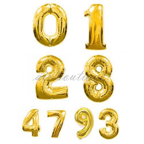 Воздушные шары Цифры Золото