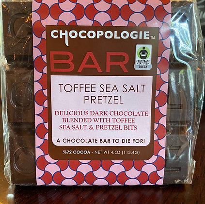 Chocopologie Toffee, Sea Salt, Pretzel Bar