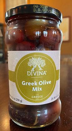 Divina Greek Olive Mix (6.36 oz jar)