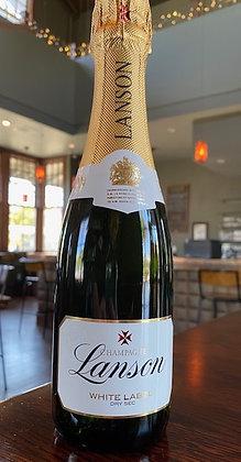 Lanson Champagne (375mL) White Label Dry Sec