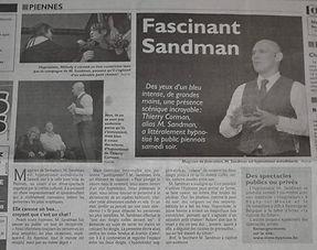 sandman spectacle hypnotiseur belgique