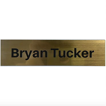 "2"" x 12"" Engraved Name Plate"