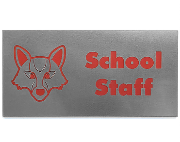 "1-1/2"" X 3"" Engraved Badge"