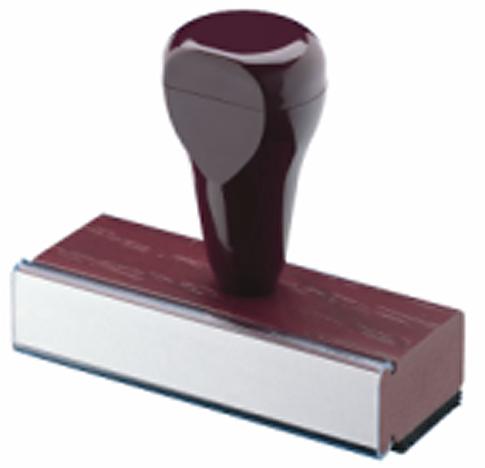 Wood Cushion Handle Rectangular Notary Stamp