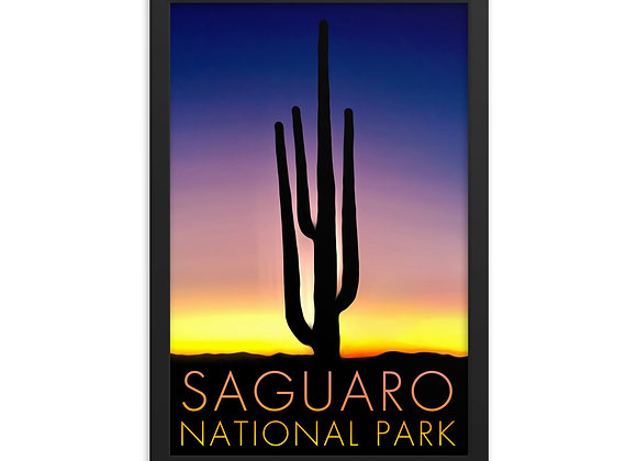 Framed 12x18 Saguaro National Park Poster 1
