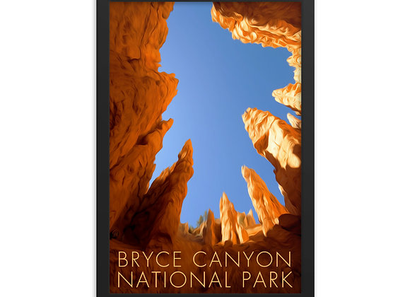 Framed 12x18 Bryce Canyon Poster 2