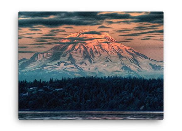 18x24 Mount Rainier National Park Canvas 1
