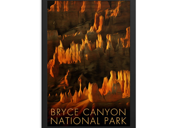 Framed 12x18 Bryce Canyon Poster 1