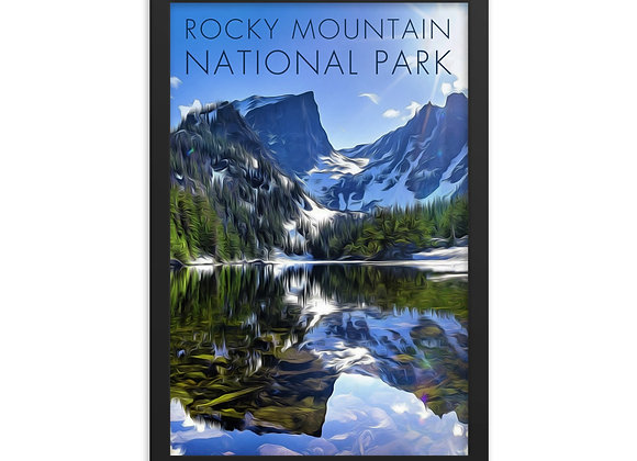 Framed 12x18 Rocky Mountain Poster