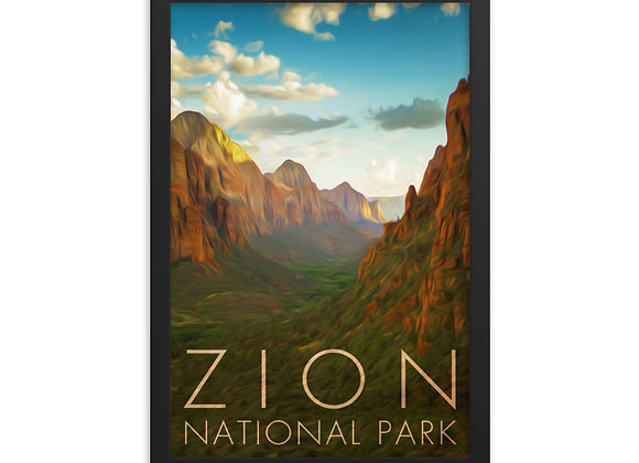 12x18 Framed Zion Poster 1