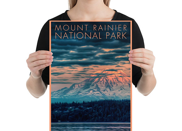 12x18 Mount Rainier National Park Poster 1