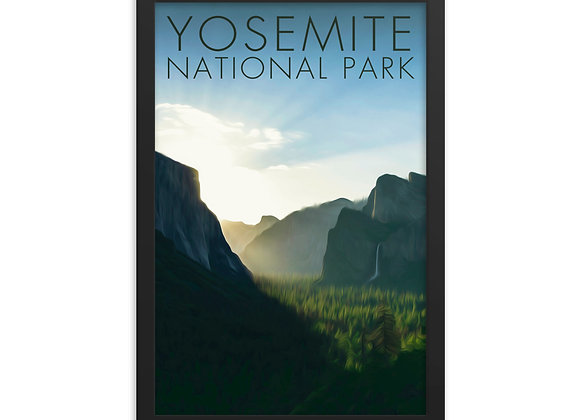 12x18 Framed Yosemite Poster 4