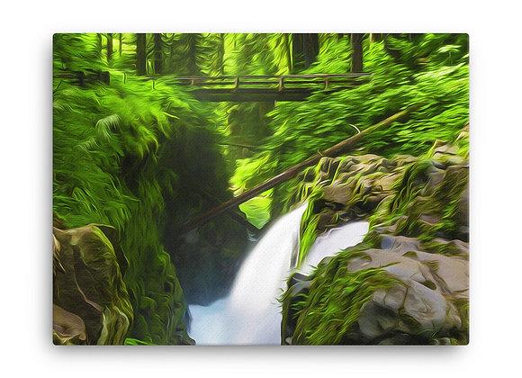 18x24 Olympic Poster 2 - Sol Duc Falls