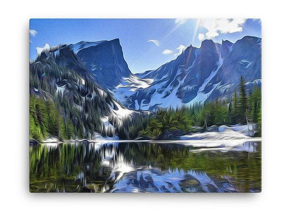18x24 Rocky Mountain Canvas