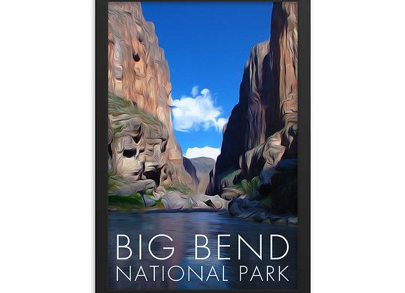 Framed 12x18 Big Bend National Park Poster 2