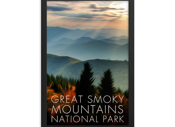 Framed 12x18 Great Smoky Mountains Poster