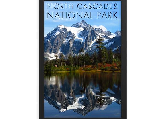 Framed 12x18 North Cascades Poster 1
