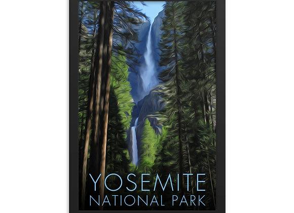 Framed 12x18 Yosemite Poster 1