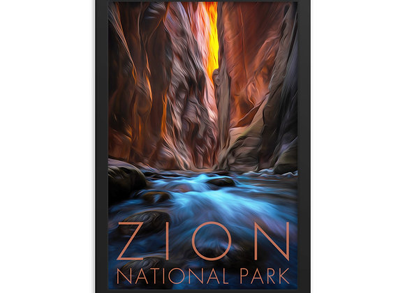 12x18 Framed Zion Poster 2
