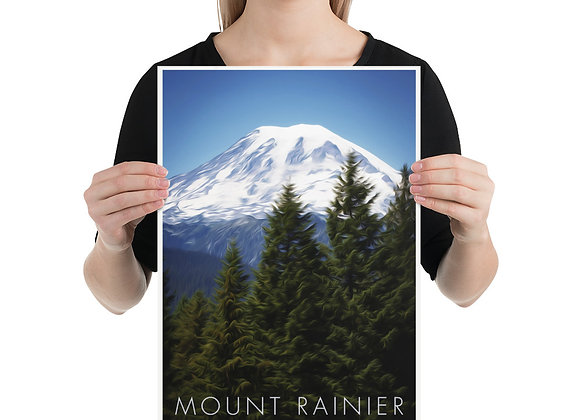 12x18 Mount Rainier National Park Poster 2