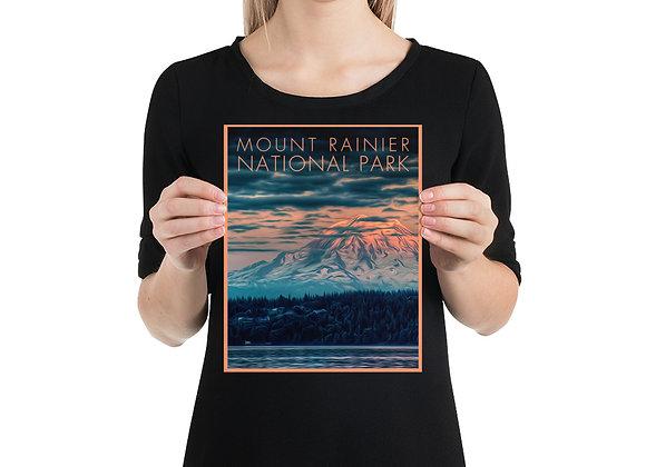 8x10 Mount Rainier Poster