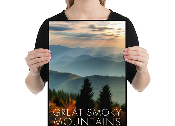 12x18 Great Smoky Mountains Poster 1