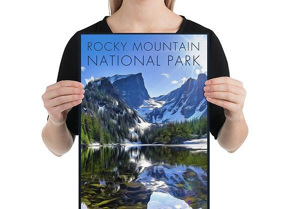 12x18 Rocky Mountain Poster