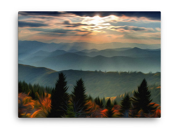 18x24 Great Smoky Mountains Canvas 1