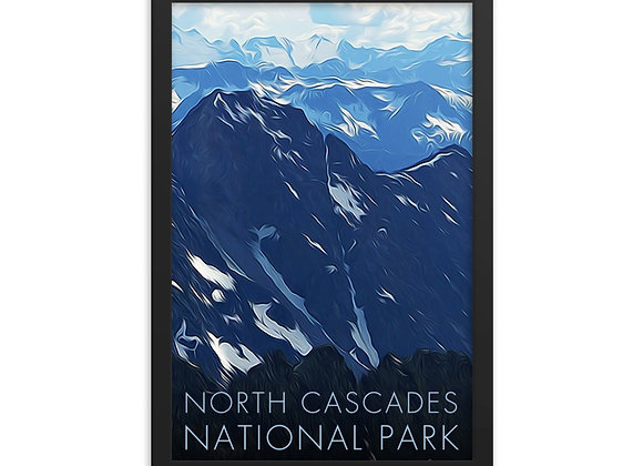 Framed 12x18 North Cascades Poster 2