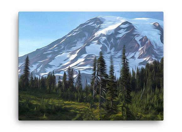 18x24 Mount Rainier National Park Canvas 2