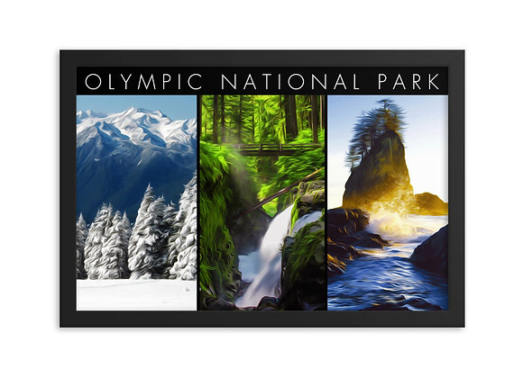 12x18 3-in-1 Framed Olympic Poster