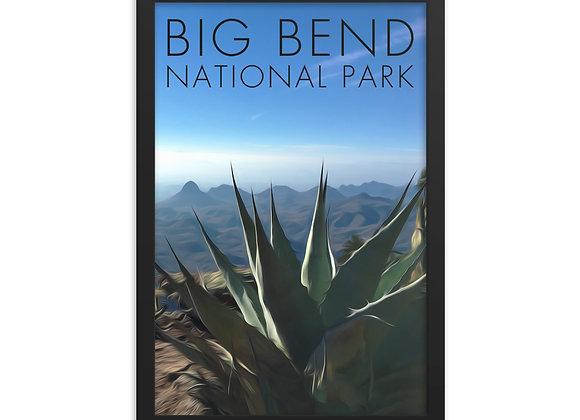 Framed 12x18 Big Bend National Park Poster 1