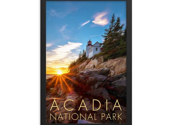 Framed 12x18 Acadia Poster 1