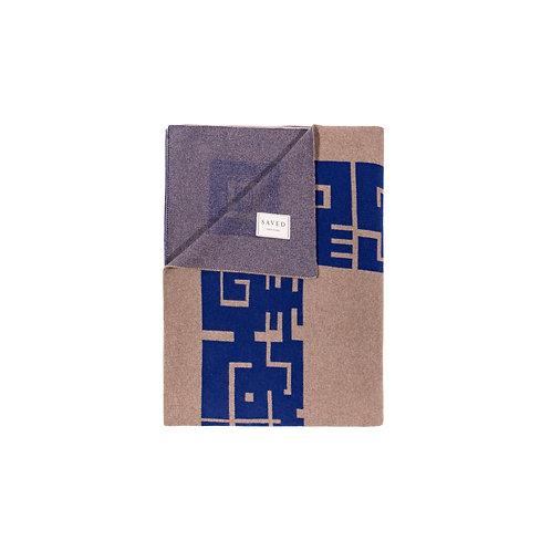 SAVED  NY x MAISON LELEU - Azteque Blue Blanket