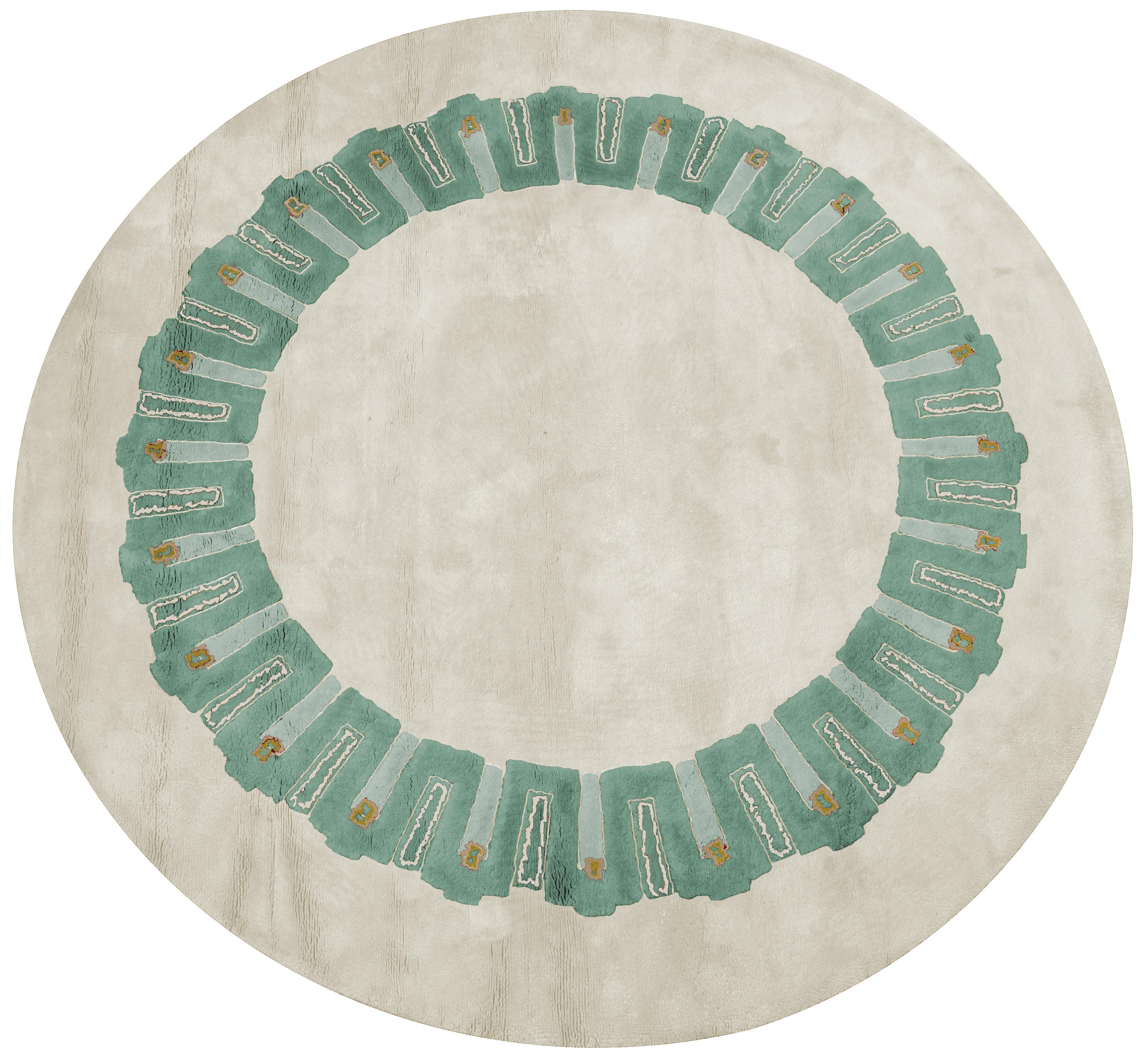 Fresque BEIGE frise celadon