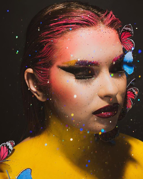 butterflies _make up _ _oceane_makeupart