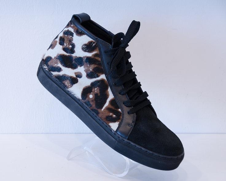 High Sneaker- Leopard Cavallino
