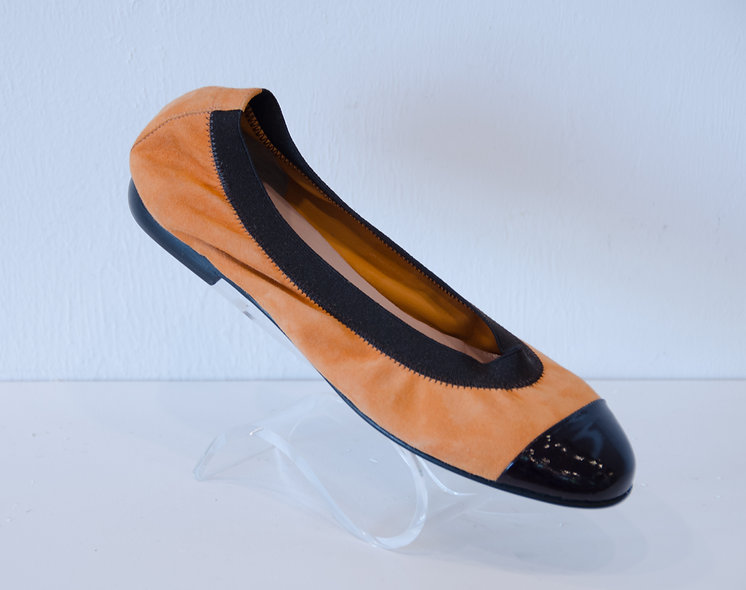 Ballerina- Light Orange Suede