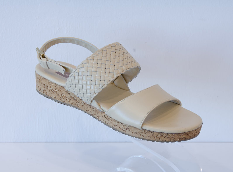 Sandal- Light Beige Leather