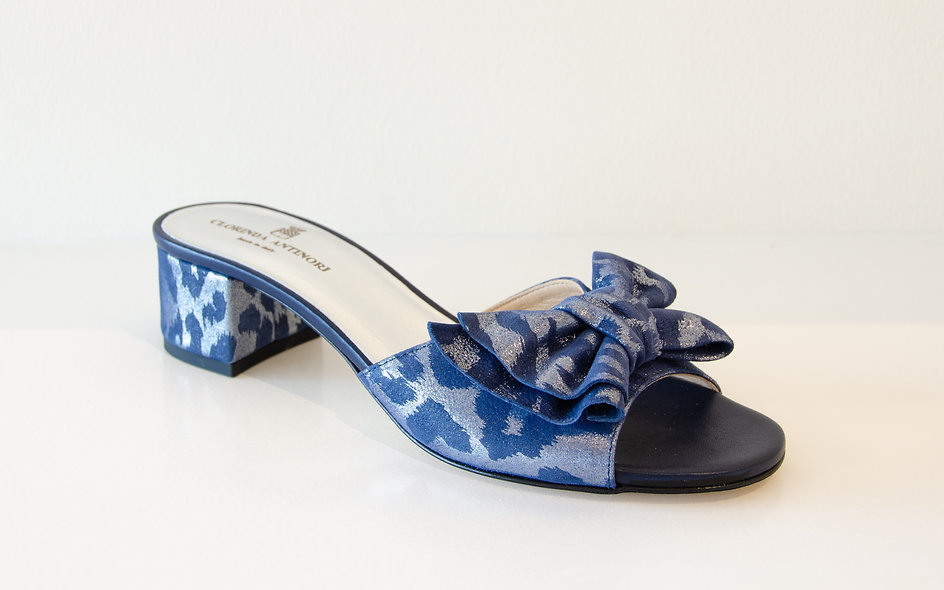 The Bria- Navy Leopard Print