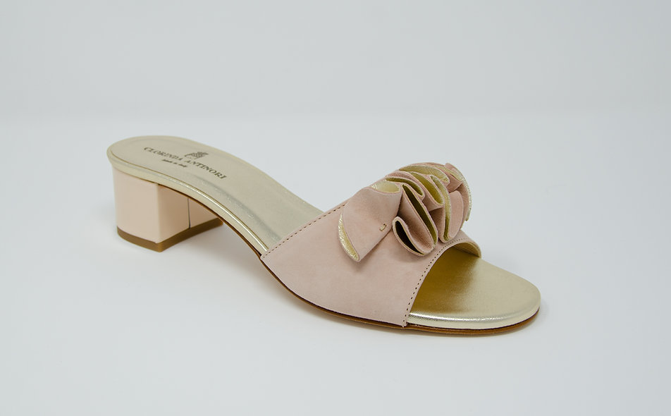 The Rita- Nude Suede