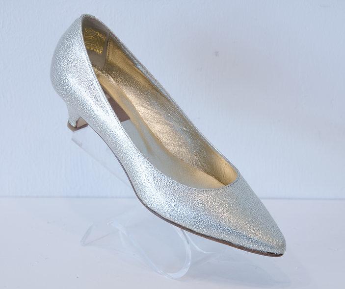 Kitten Heel- Gold Patent Leather