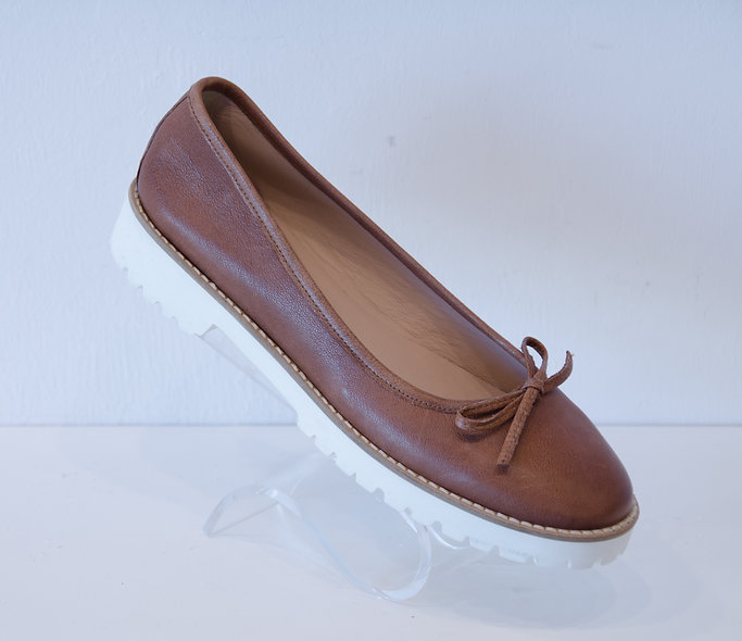 Sporty Ballerina- Brown Leather