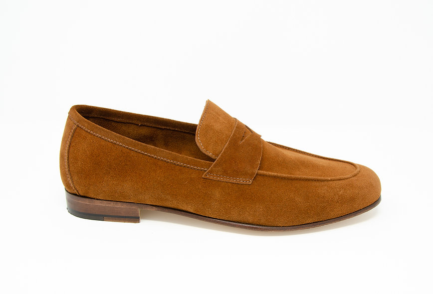 The Torino- Reddish Brown Suede
