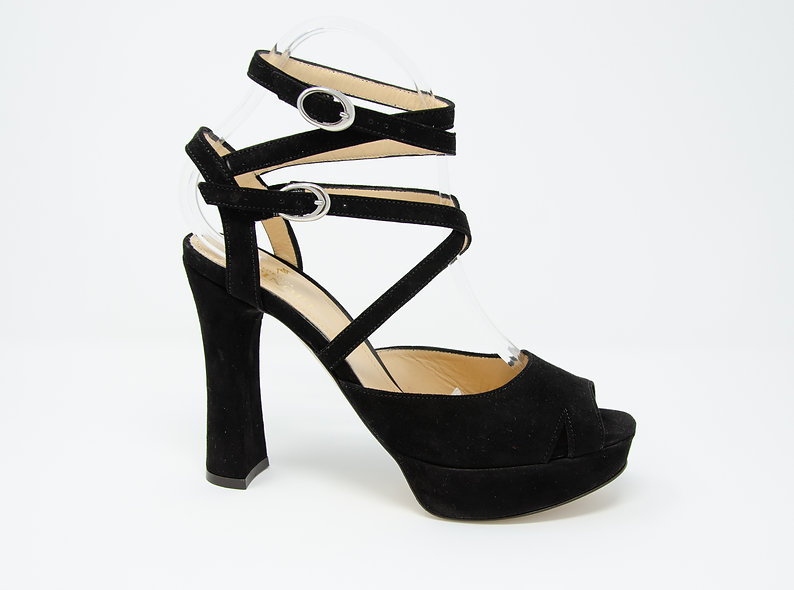 The Sandra- Black Suede