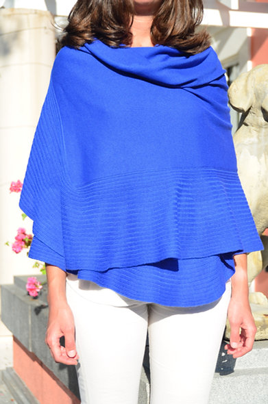 The Shawl- Royal Blue