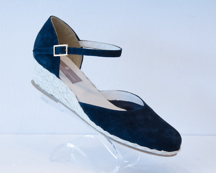 The Belle- Navy Suede
