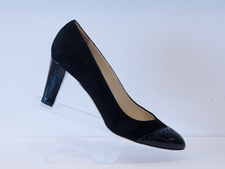 The Charlotte- Black Suede