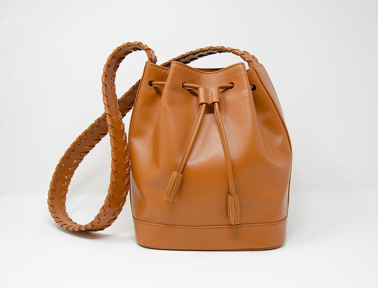 Medium Bucket Bag- Brown Calfskin