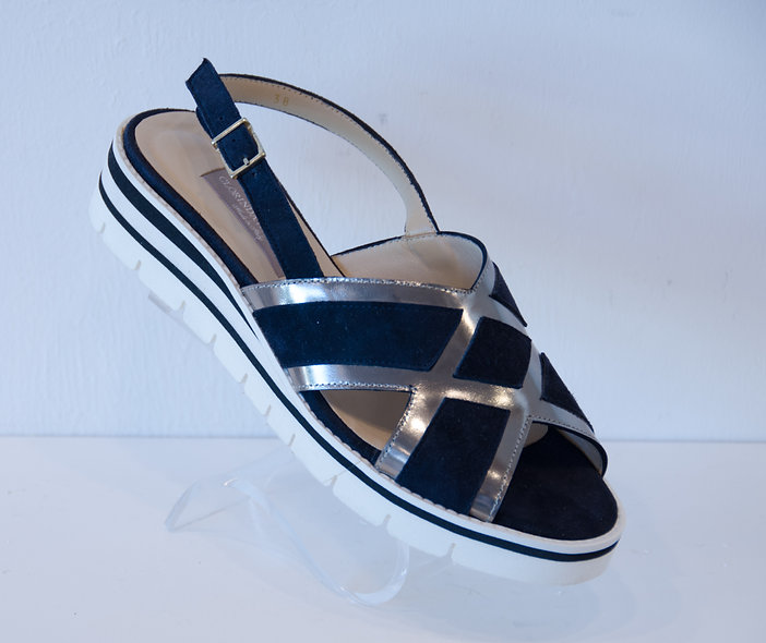 Sporty Sandal- Navy Blue Metallic